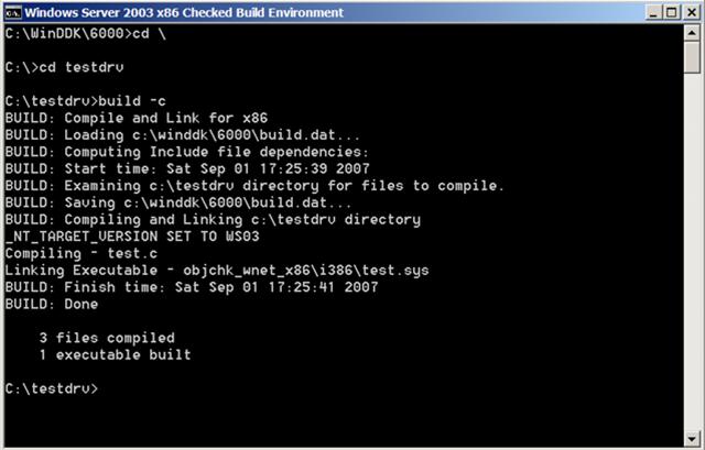 A \u0027Hello World\u0027 Windows driver from scratch